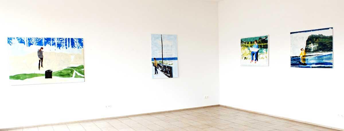 Heike Schwegmann - Ausstellungsansicht: Blicke reichen nicht