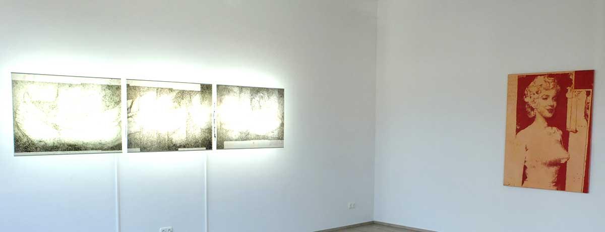 Rolf-Maria Krückels - Ausstellungsansicht: I wild draw