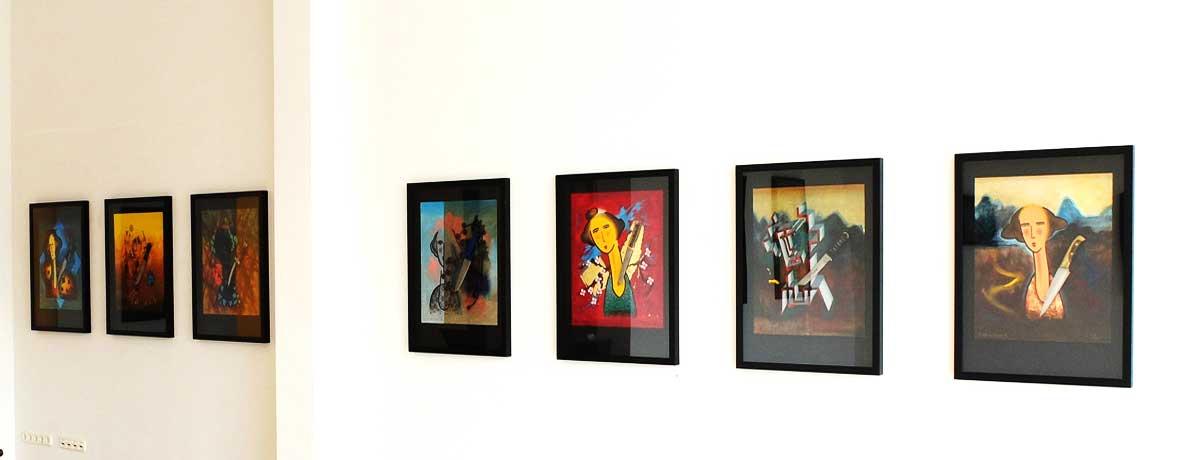Heinz Zolper - Ausstellungsansicht: messerScharf