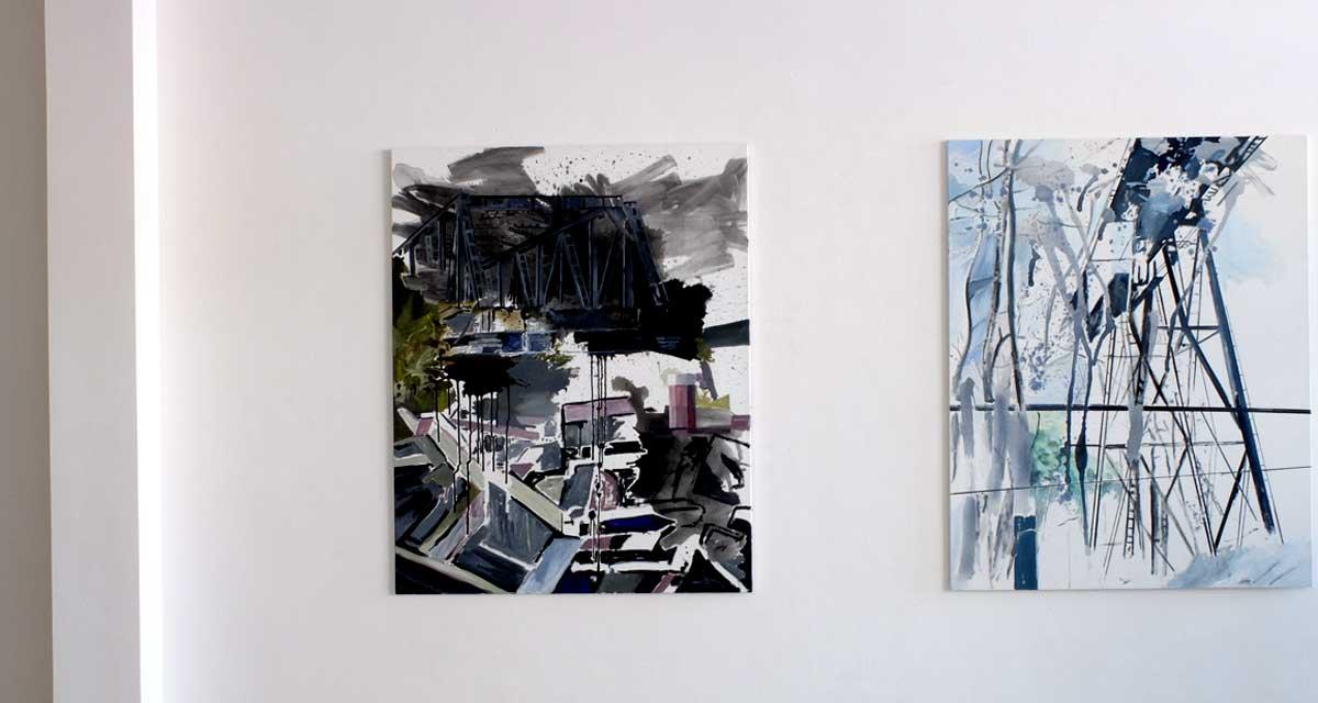 Ausstellungsansicht: Manfred Gipper: Mein schönstes Grau (3)