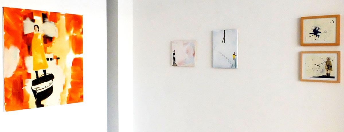 Ausstellungsansicht: Heike Schwegmann - Keine Ahnung von der Welt