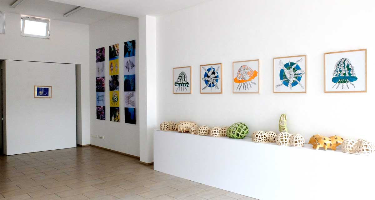 Ausstellungsansicht: Medusenfloss