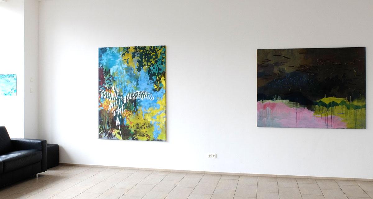 """Ausstellungsansicht: Nicole Bold """"von aussen ist die Welt immer ganz nahe"""""""