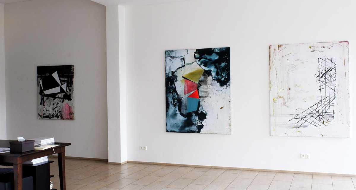 "Ausstellungsansicht Bart Vandevijvere ""Wandering in between"""