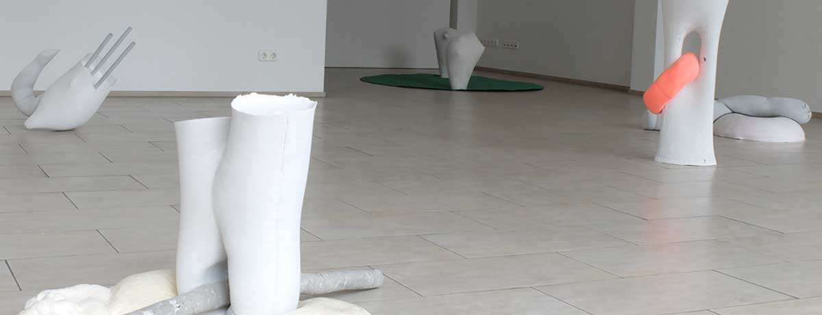 Ausstellungsansicht: abgeformt