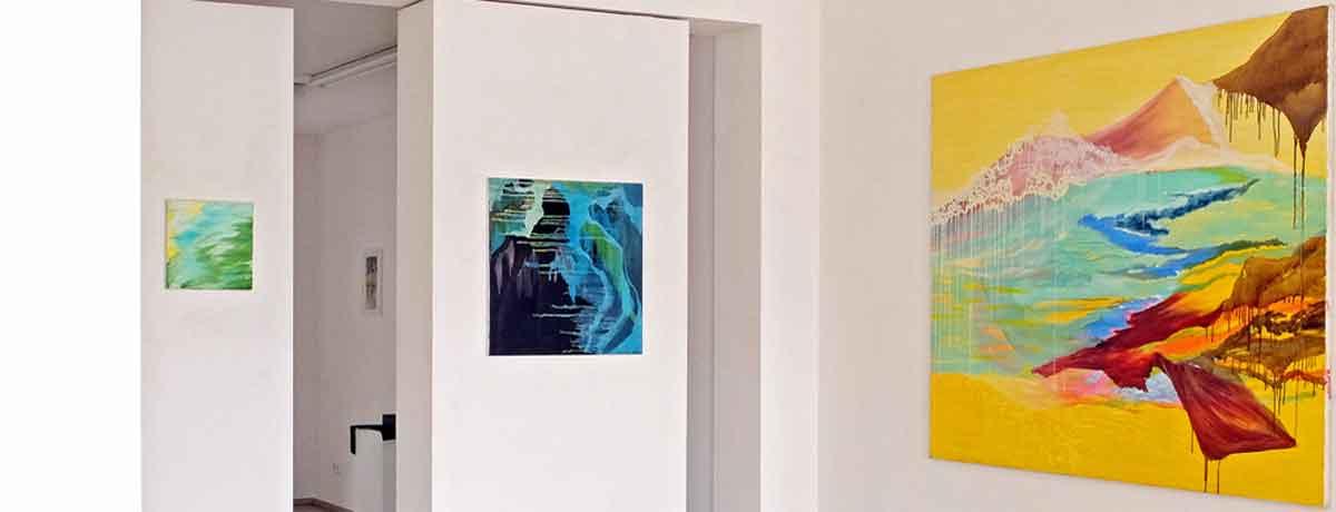 Ausstellungsansicht: mit den Augen verreisen