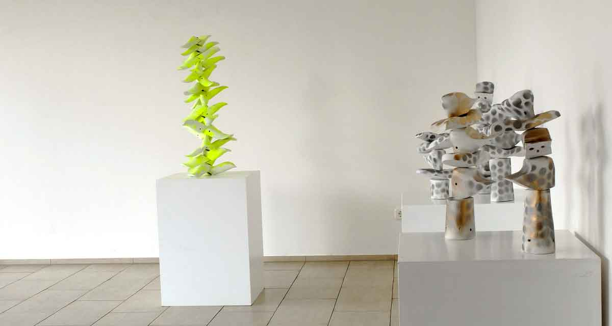 Ausstellungsansicht: Verdichtungen & Einblicke