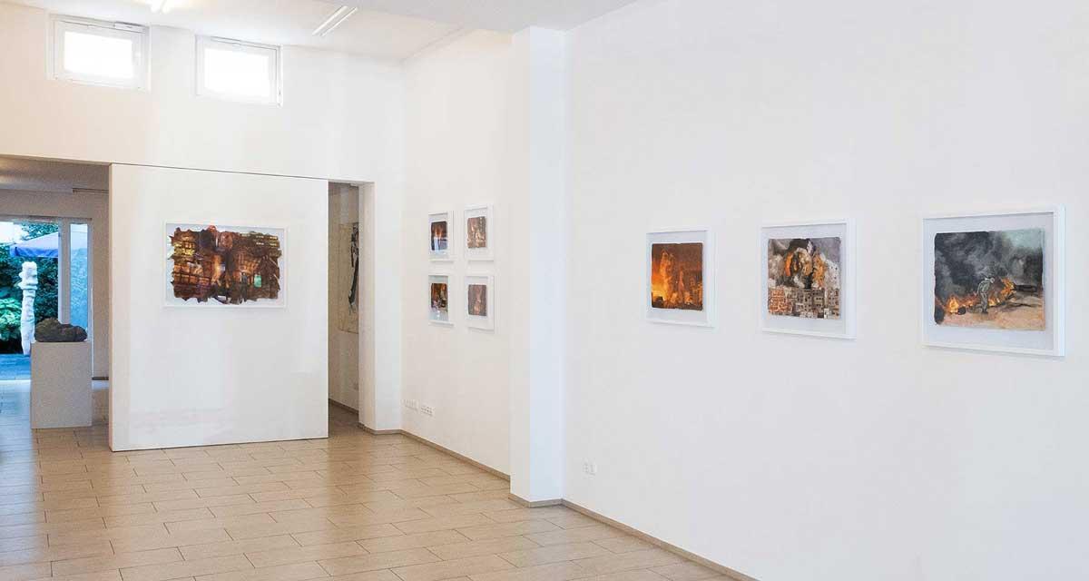 Ausstellungsansicht: Burning