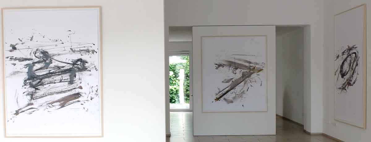 Ausstellungsansicht: Der flächenlose Raum
