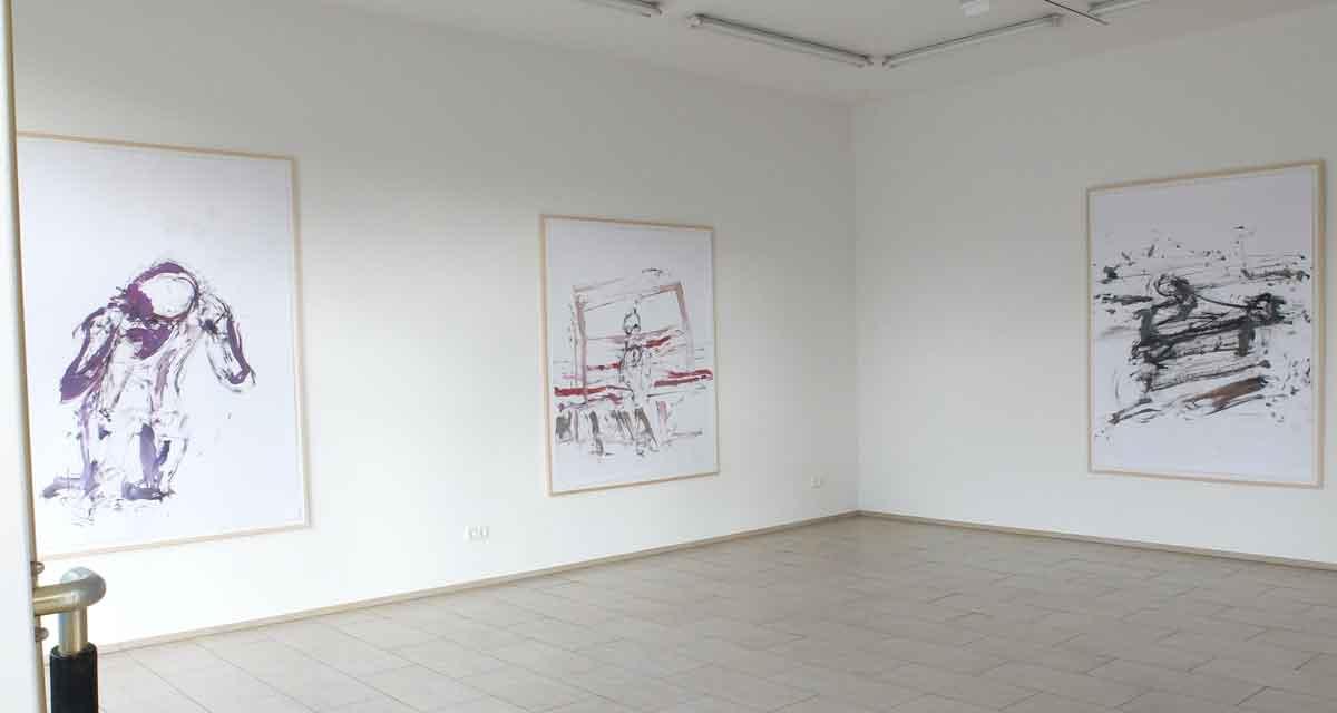 Ausstellungsansicht: Der flächenlose Raumen